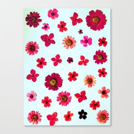 Wildflower Collage Canvas Print