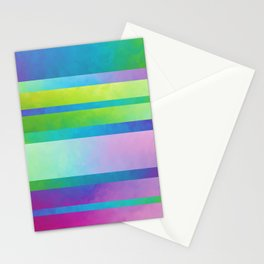 Gradient Stripes Stationery Cards