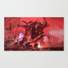 Thordak and Vox Machina Canvas Print