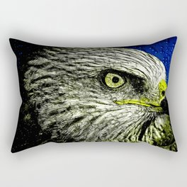 Golden Eagle Head Rectangular Pillow