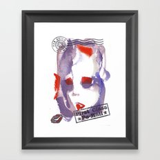 First Class Mail Framed Art Print