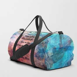 Challenging Fear Rumi Uplifting Quote With Beautiful Underwater Painting Duffle Bag