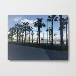 Barcelona Beach Promenade Metal Print