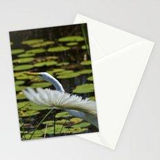 Egret Take Off Stationery Cards