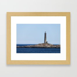 North Lighthouse Tower Thacher Island Framed Art Print
