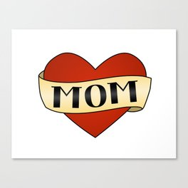 Mom Tattoo Canvas Print