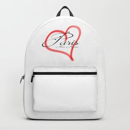 Paris Mon Amour in a red heart - Vector Backpack