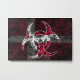 Biohazard Denmark, Biohazard from Denmark, Denmark Quarantine Metal Print