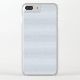 Light Blue Cold Pressed Watercolour Paper Texture Clear iPhone Case
