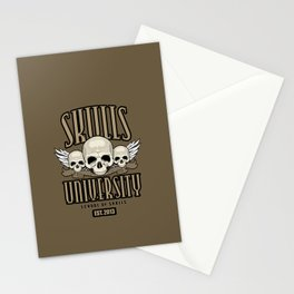Skulls University Stationery Cards