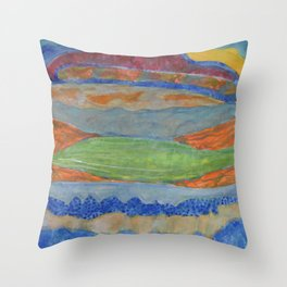 Moving Layers Throw Pillow