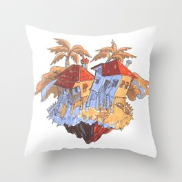 Dance Houses Throw Pillow