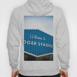 Welcome to Dodger Stadium | Los Angeles California Nostalgic Iconic Sign Art Print Tapestry Hoody