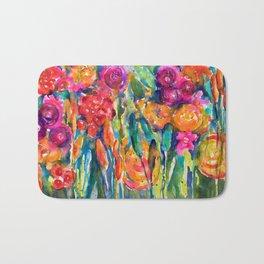 Mexican Bouquet Color Flowers Bath Mat