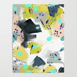Brush strokes of abstract strokes Poster