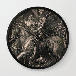 Knight Death And The Devil Albrecht Durer Wall Clock