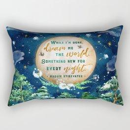 Dream me the world Rectangular Pillow
