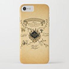 Marauders Map iPhone 7 Slim Case