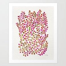 Pink Ivy Art Print