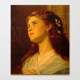Anderson Sophie-Portrait of a Young Girl Canvas Print
