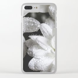 Daisies with drops Clear iPhone Case