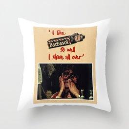Barbasol Throw Pillow