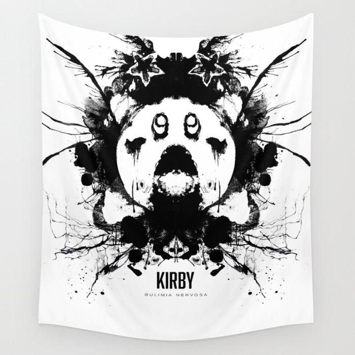 Kirby Ink Blot Geek Psychological Disorders Wall Tapestry