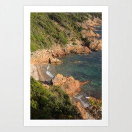 Mediterranean beach Art Print