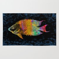 fish Area & Throw Rugs featuring  Fish by Vitta
