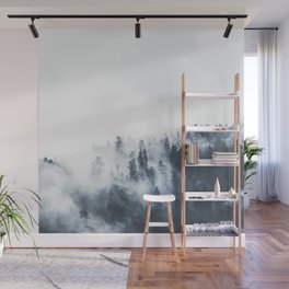 Foggy Forest Landscape Wall Mural