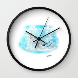 Cinderella Shoes Wall Clock