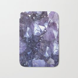Amethyst Crystal Cluster Bath Mat