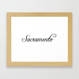 Sacramento Framed Art Print