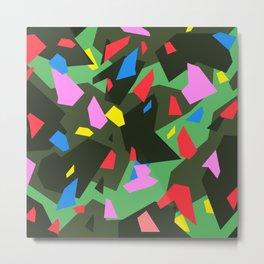 Green\Red\Blue\Black\Grey\Pink Geometric camo Metal Print