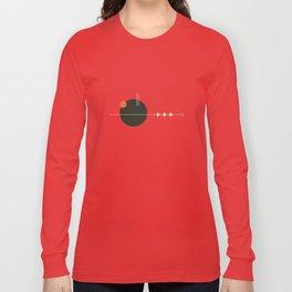 Mid Geo 01 // Mid Century Modern Minimalist Illustration Long Sleeve T-shirt