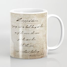 Anna Karenina Quote  As if she were the sun by Leo Tolstoy Coffee Mug
