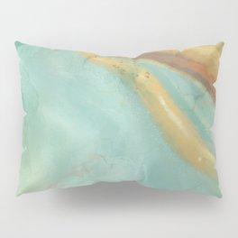 Green and Gold Geode Pillow Sham
