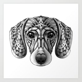 Ornate Dachshund Art Print