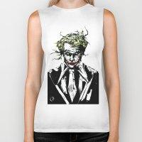 joker Biker Tanks featuring Joker. by CJ Draden