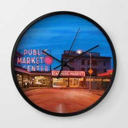 Pike Place Market Wall Clock