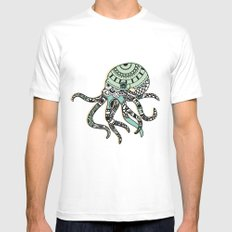 Octopus MEDIUM Mens Fitted Tee White