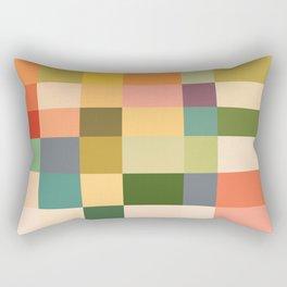 Vintage Checkered Pattern Rectangular Pillow