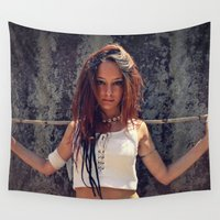 warrior Wall Tapestries featuring Warrior by MG-Studio