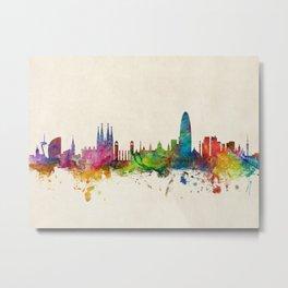 Barcelona Spain Skyline Cityscape Metal Print