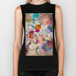 Abstract Expressionism Biker Tank