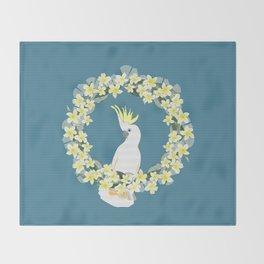 Sulphur Crested Cockatoo Throw Blanket