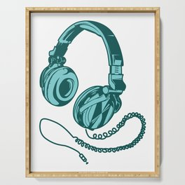 Headphone Headset Music Gaming Song Song Gift Serving Tray