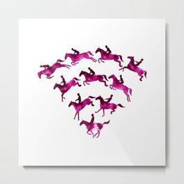 Connected to Showjumping (Magenta) Metal Print