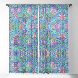 Vaporwave Palms #1 Sheer Curtain