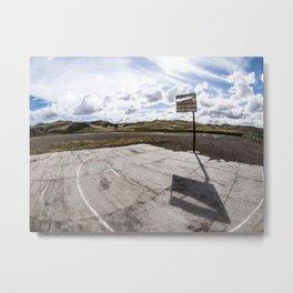 Abandoned basketball court Metal Print